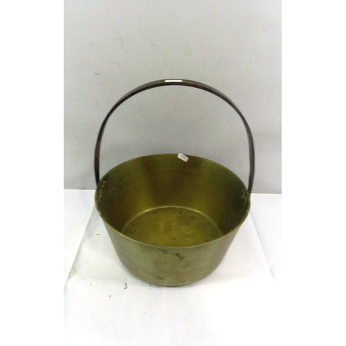 25 - ANTIQUE LARGE BRASS JAM PAN...