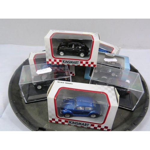 44 - SIX MINIATURE CARS - BOXED...