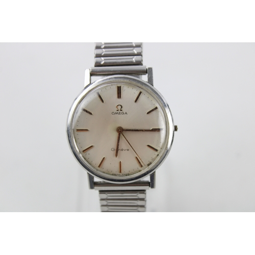 31 - Vintage Gents OMEGA  Geneve Stainless Steel WRISTWATCH Hand-Wind...