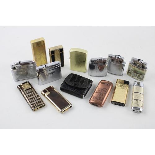 27 - 14 x Assorted Vintage CIGARETTE LIGHTERS Inc Mosda, Firefly, Comoy's, Omega Etc...