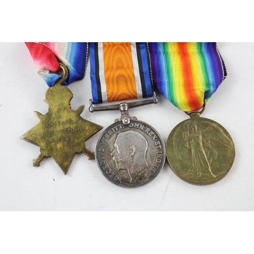 45 - WW1 1914-15 Medal Trio Mounted w/ Original Ribbons Named...