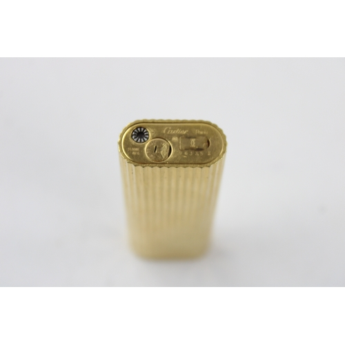 172 - Les Must De CARTIER Paris Gold Plate CIGARETTE LIGHTER Original Box (81g)...