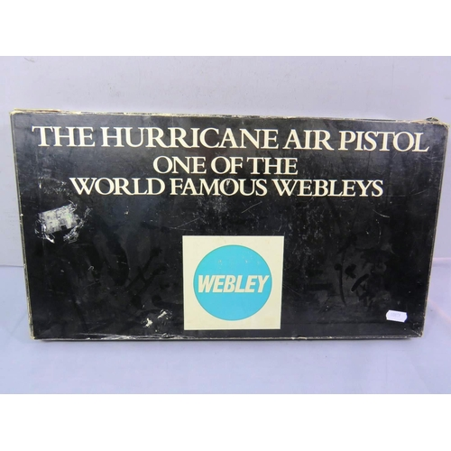 379 - WEBLEY HURRICANE PISTOL BOXED AS NEW...