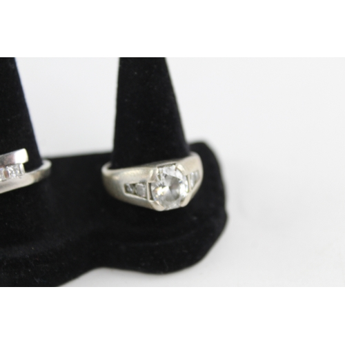 218 - 5 x Vintage .925 Sterling Silver RINGS inc. Diamond, CZ, Statement, Chunky (23g)...
