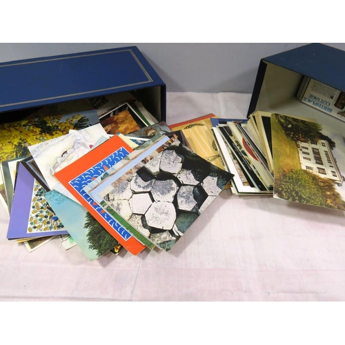 462 - BOX OF ASSORTED POSTCARDS...