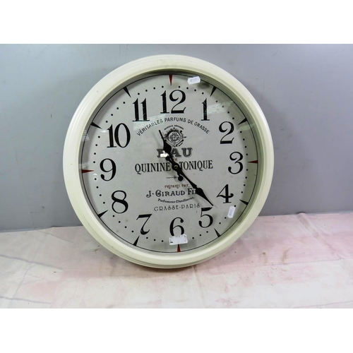 622 - VINTAGE STYLE LARGE WALL CLOCK...