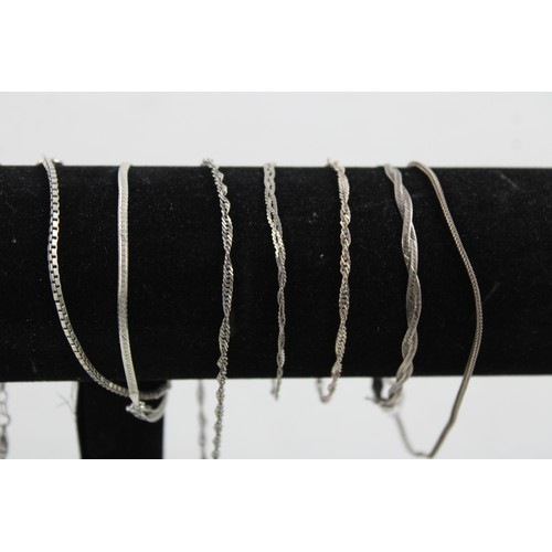 3 - 12 x Vintage .925 Sterling Silver CHAINS / NECKLACES inc. Wheat Link (25g)...