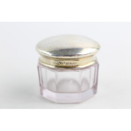 5 - 5 x Vintage .925 STERLING SILVER Topped Ladies Dressing Table Jars (17g)...