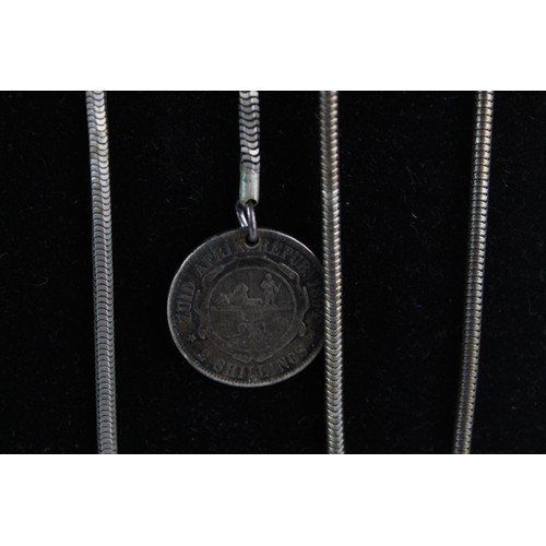 25 - 8 x Antique Gents JEWELLERY Inc. Watch Chains, Gold Plated, Spinner Fob...