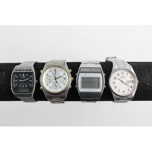 37 - 4 Gents SEIKO Quartz / Ana-Digital WRISTWATCHES Inc Seiko Chronograph, A359-5010...