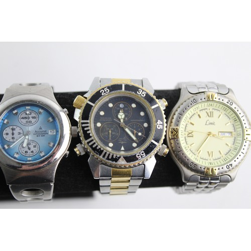41 - 6 x Assorted Gents WRISTWATCHES / CHRONOGRAPHS Quartz WORKING Inc Accurist Etc...
