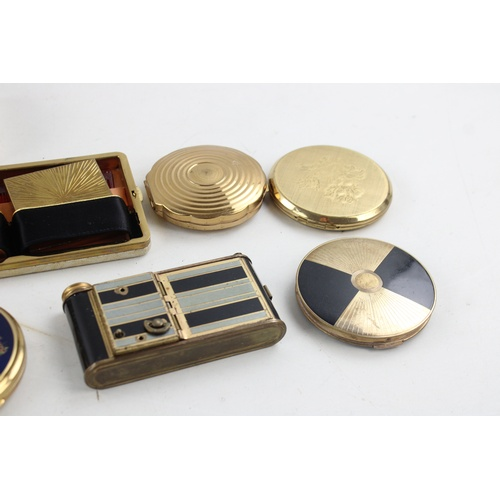 30 - 10 x Assorted Vintage Vanity COMPACTS Inc KIGU, Stratton, Working Musical Etc...