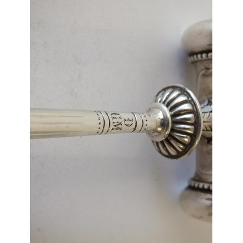 27 - CONSTANTINE & FLOYD Ltd SILVER GAVEL, BIRMINGHAM 1894 HALLMARK, WEIGHT 160g...