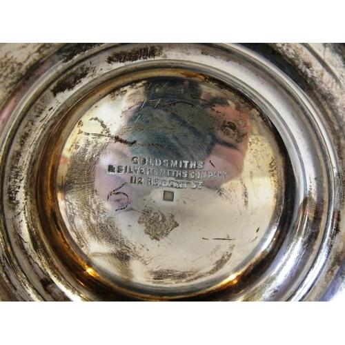 127 - ANTIQUE VICTORIAN STERLING SILVER TANKARD 385G GOLDSMITHS AND SILVERSMITHS, LONDON 1896, 5.5