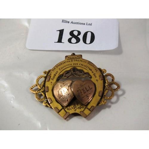 180 - 9CT GOLD HALLMARKED SWEETHEART BROOCH - 3.9G...