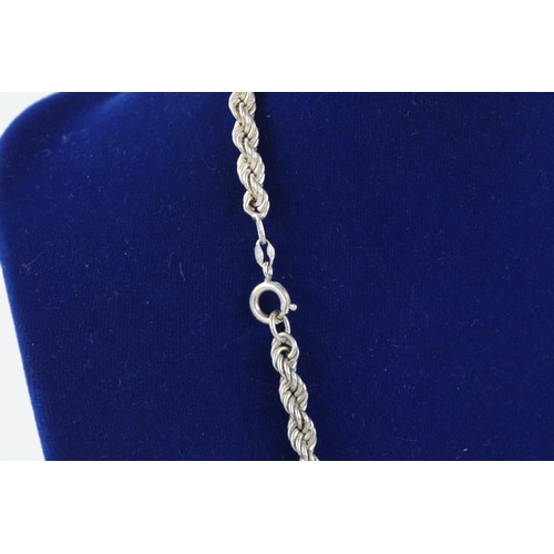12 - 2 x .925 Sterling Silver Twisted Rope NECKLACES (32g)...