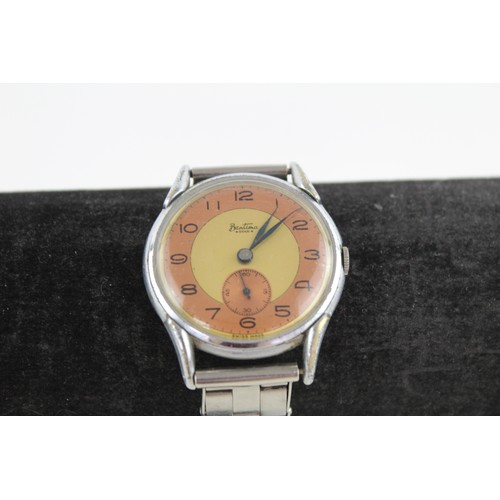 23 - 2 x Vintage Gents BENTIMA WRISTWATCHES Hand-Wind WORKING...