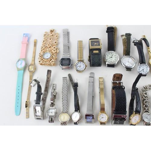 33 - 40 x Assorted Vintage Ladies WRISTWATCHES Quartz Inc. Pulsar, Accurist Etc...