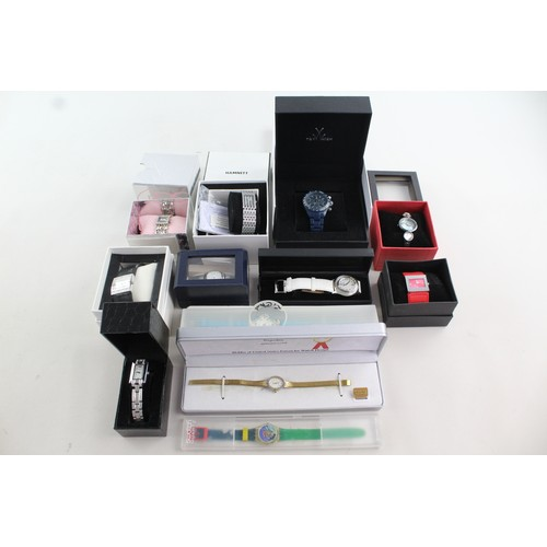 24 - 12 x Ladies QUARTZ WRISTWATCHES In Original Boxes Inc Toy Watch, Sekonda, Swatch...
