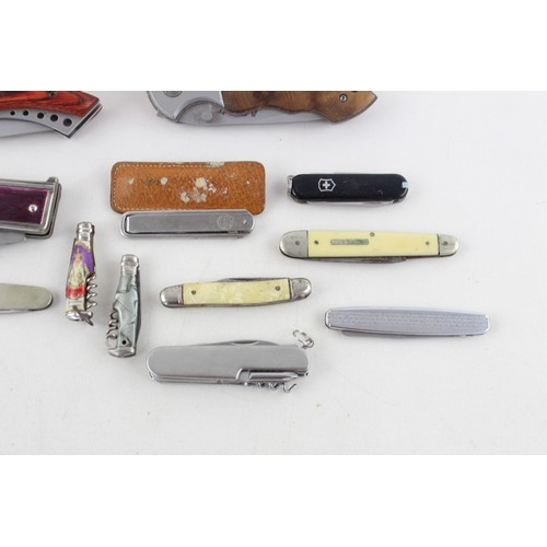 25 - 14 x Assorted POCKET KNIVES / TOOLS Inc Vintage, Boxed, Swiss Army, Royal Etc...
