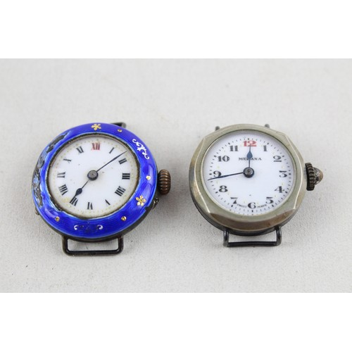 6 - 2 x Vintage Ladies .925 STERLING SILVER Cased WRISTWATCHES Hand-Wind (37g)...