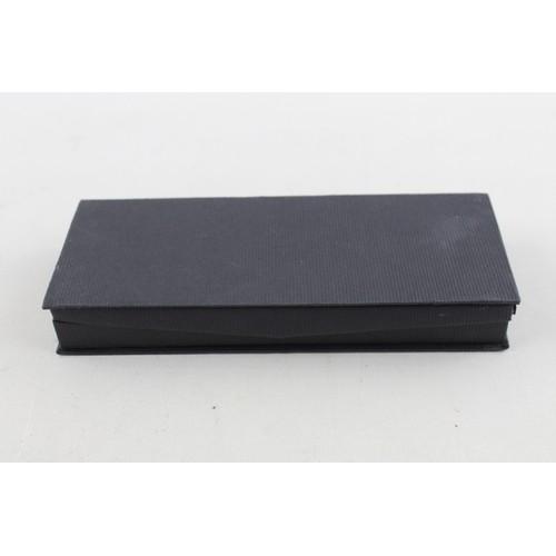 26 - Vintage SHEAFFER Fashion Black FOUNTAIN PEN w/ Rolled Gold Nib WRITING Boxed...