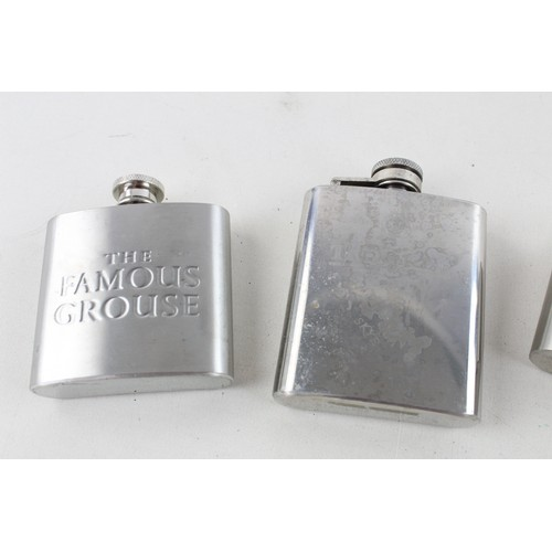 29 - 8 x Assorted BREWERIANA HIP FLASKS Inc Vintage, Leather, Advertising Etc...