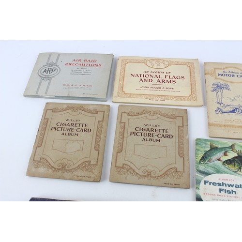 45 - 14 x Assorted Vintage CIGARETTE CARD ALBUMS Inc Animals, Nature, Flags, Planes...