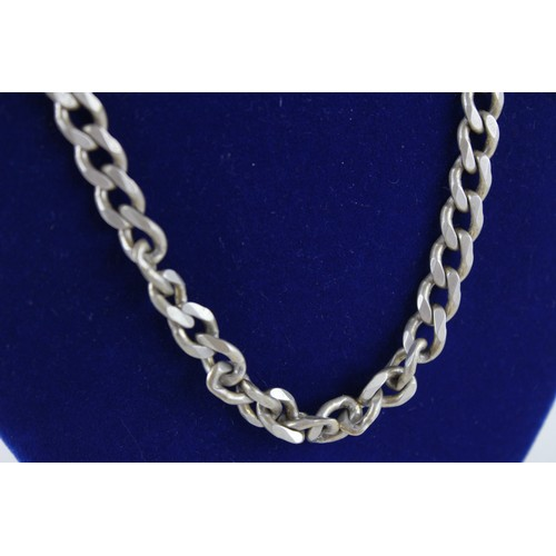 52 - Vintage Chunky .925 Sterling Silver Curb Link NECKLACE, 51.2cm (47g)...