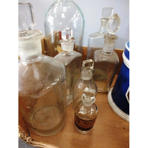 439 - ANTIQUE APOTHECARY BOTTLES AND JAR...