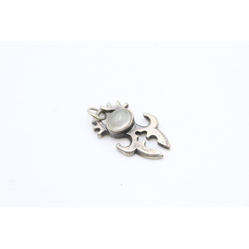 12 - Sterling Silver Moonstone Pendant / Charm...