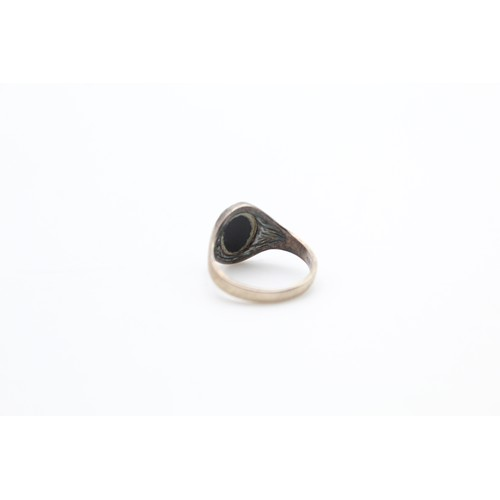 5 - Sterling Silver Onyx Signet Ring...