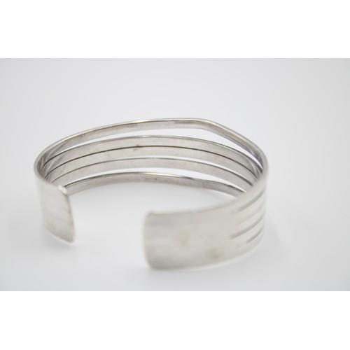 40 - Sterling Silver Chunky Cuff Bangle...