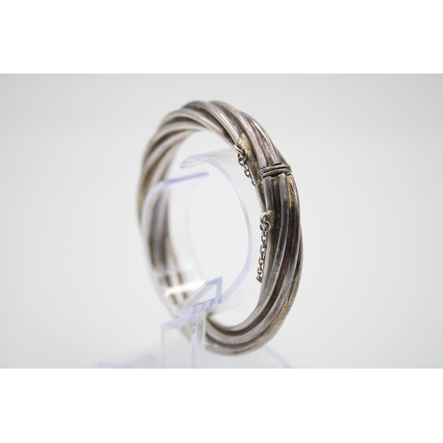 53 - Sterling Silver Chunky Twist Bangle...