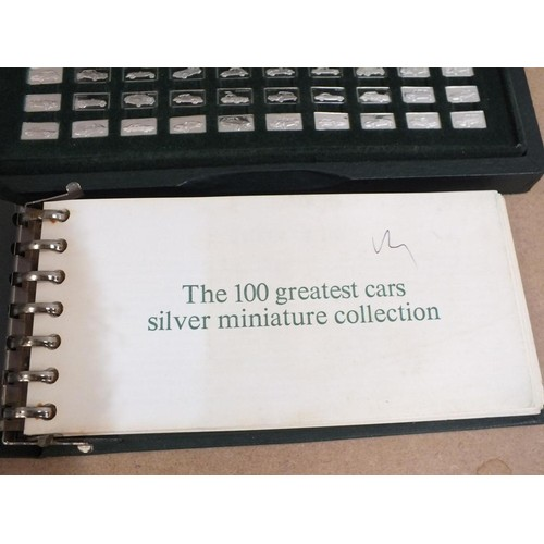 317 - 100 GREATEST CARS SILVER INGOT COLLECTION...