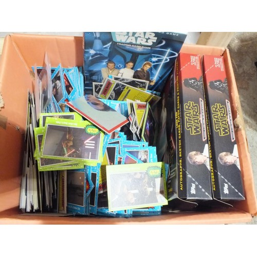 355 - STAR WARS TRADING CARDS 1000+ CARDS...