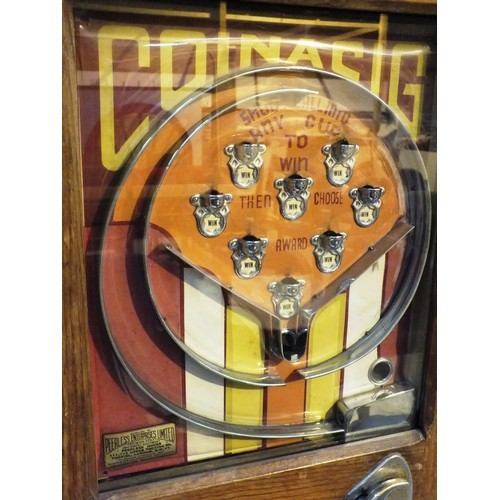 483 - ALLWIN EXTREMELY RARE COINACIG CABINET ARCADE GAME