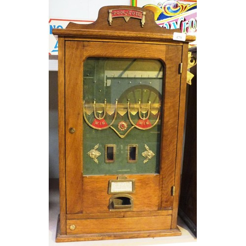484 - RARE POOL TOTE CABINET ARCADE GAME IN WORKING ORDER...