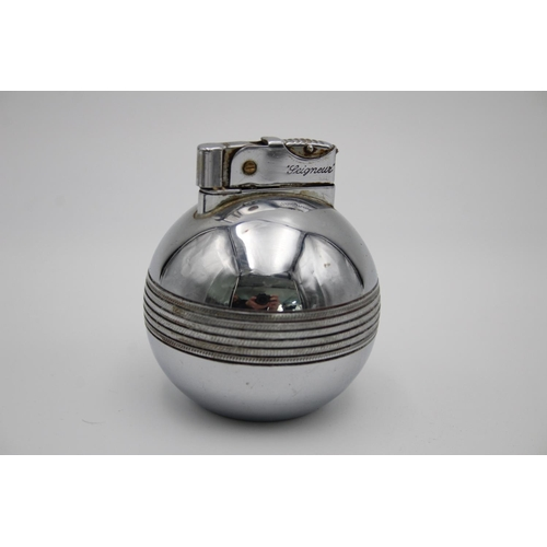 206 - 3 x Assorted Vintage Table Cigarette LIGHTERS Inc Submarine, Plane, The Orb Etc...
