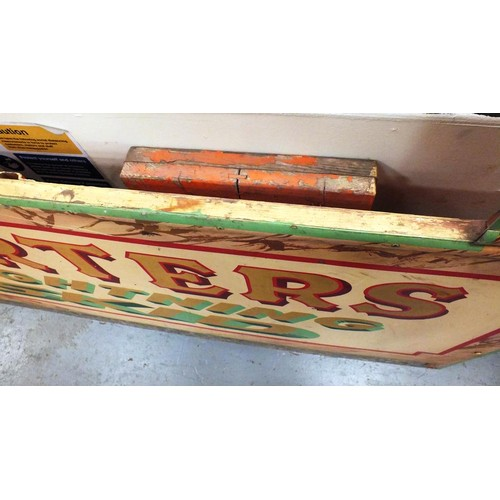 343 - ORIGINAL CARTERS LIGHTENING STRIKE PANEL BOOTH FROM FAIRGROUND RIDE APPROX 6' X 5'...