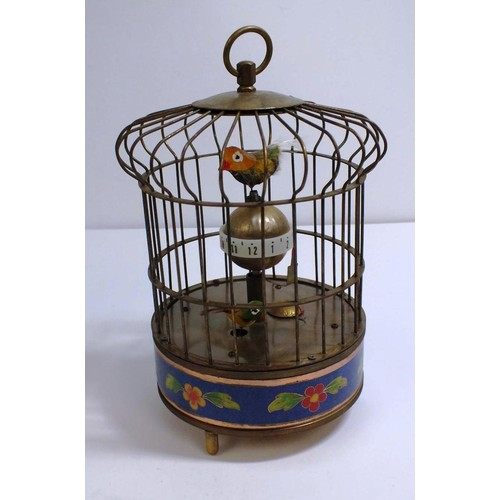 441 - BIRD CAGE CLOCK...