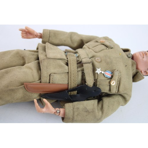 57 - Vintage 1960s PALITOY ACTION MAN Doll with Painted Head & Accessories...