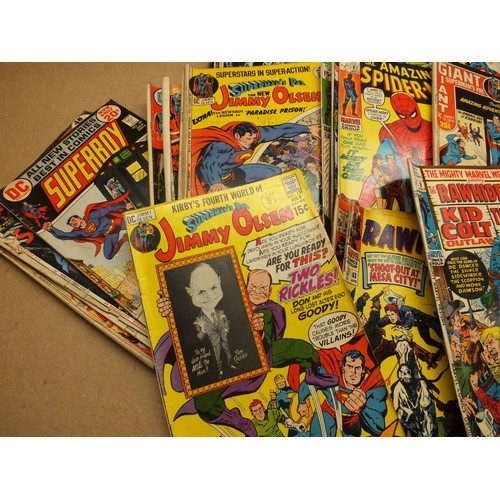 485 - SELECTION OF VINTAGE COMICS INCLUDING SPIDER MAN AND SUPERMAN...