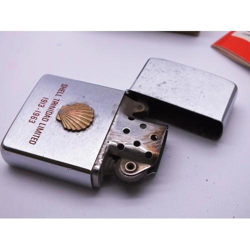 323 - OLD 1960'S ZIPPPO SHELL OIL INTEREST, IN ORIGINAL BOX