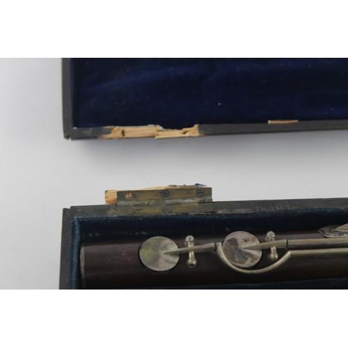 231 - Antique JEAN-LOUIS TOLOU PARIS Flute Instrument in Original Fitted Case