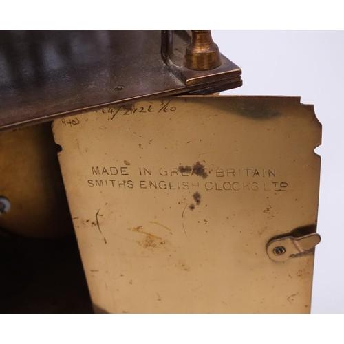 422A - 1950s SMITHS 8 DAY NELL GWYNNE BRASS LANTERN CLOCK - NO KEY