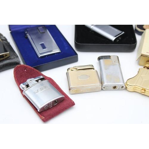 7 - 8 x Assorted Vintage RONSON & COLIBRI Cigarette Lighters Inc Boxed, Ladies Etc