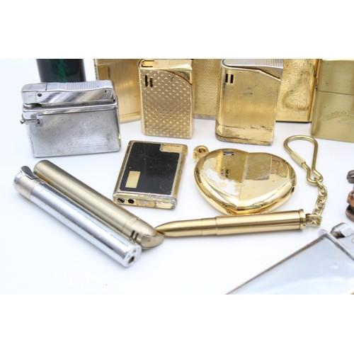 9 - 22 x Assorted Cigarette LIGHTERS Inc Vintage, Novelty, Champ, Comet, Roland Etc