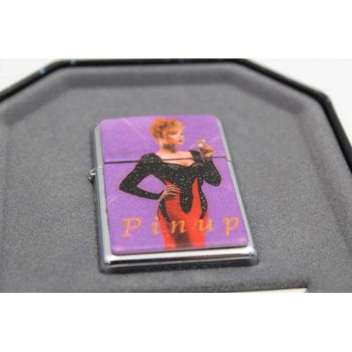 13 - 1996 ZIPPO Salutes Pin Up Girls Cigarette LIGHTER In Original Tin