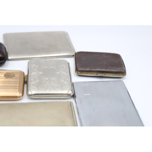 15 - 10 x Assorted Vintage TOBACCIANA Cigarette & Cigar Cases Inc Leather, Souvenir